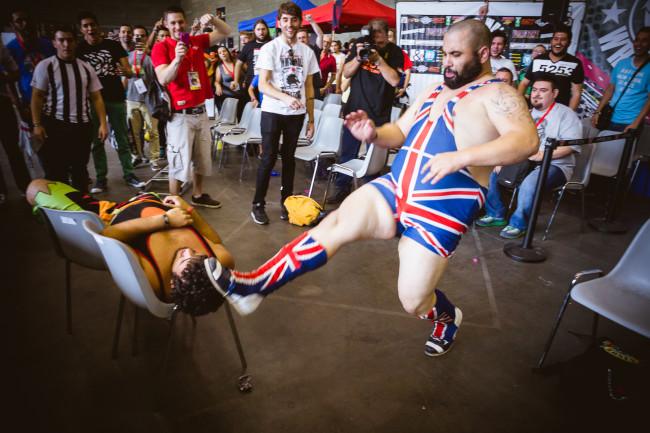 Lucha libre en el Arnold Classic Europe 2015, día 2